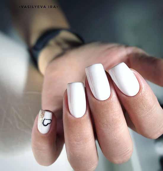 Heart on the little finger