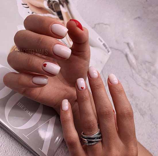 Heart print on nails