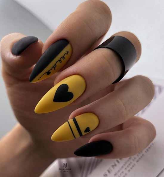 Long nails with a heart