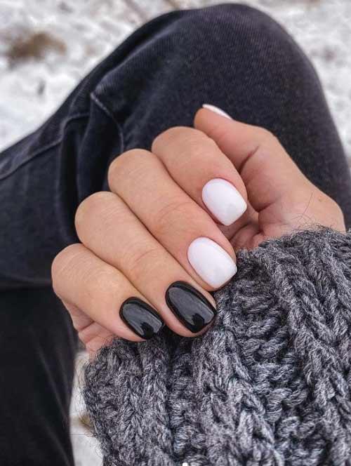 Black white manicure
