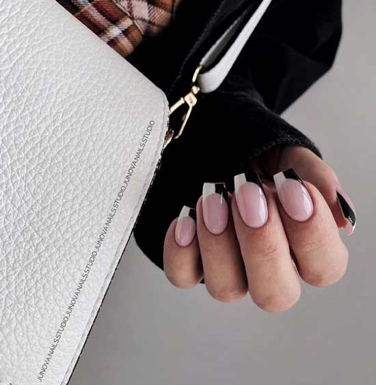 Two-tone French manicure