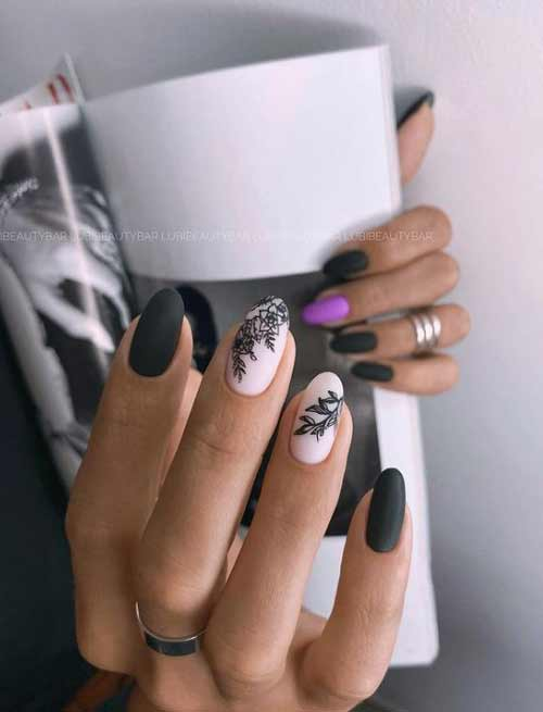 Different hands nail design
