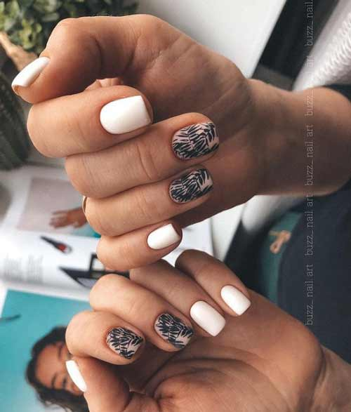 Manicure in black and white