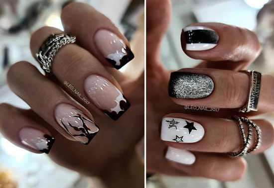 Black and white manicure ideas