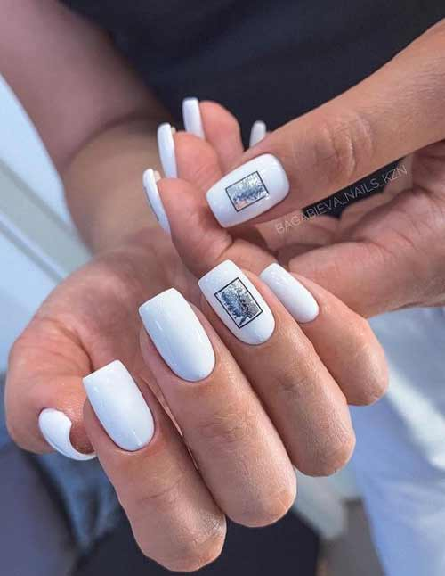 White with black and silver