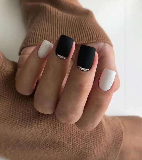 Black and white with rhinestones