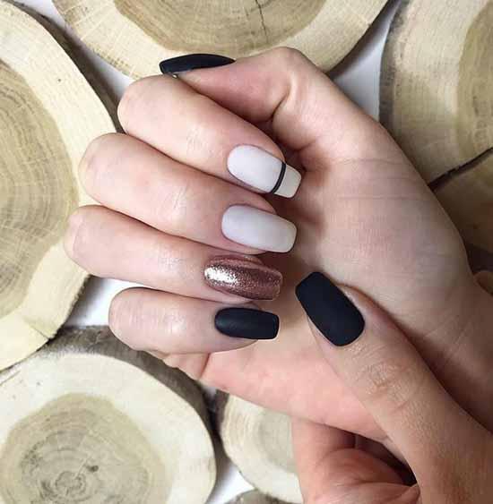 Original manicure black and white ideas