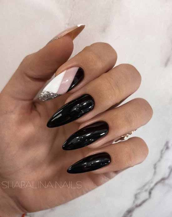 Black and white manicure 2021: photo, top nail design
