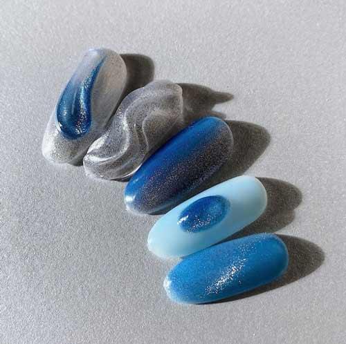 Magnetic nail polish examples