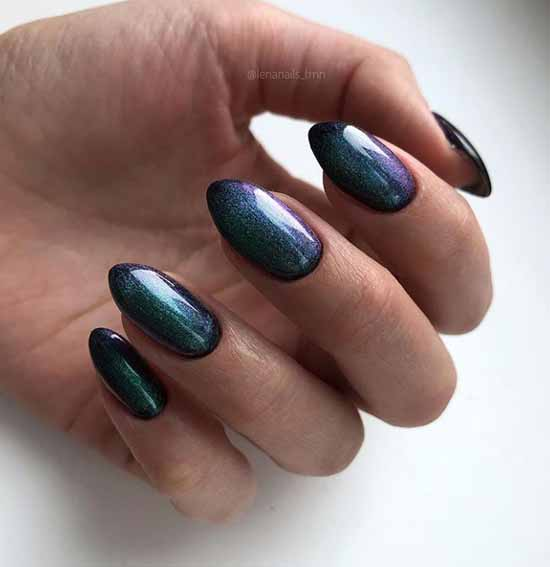 Solid color magnetic nail polish