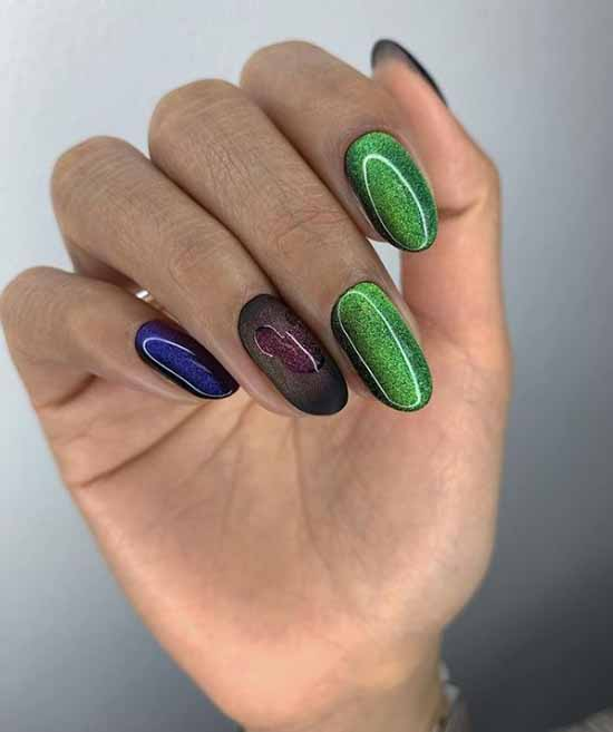 "Manicure ""cat's eye"" with design 2021: photos, news"