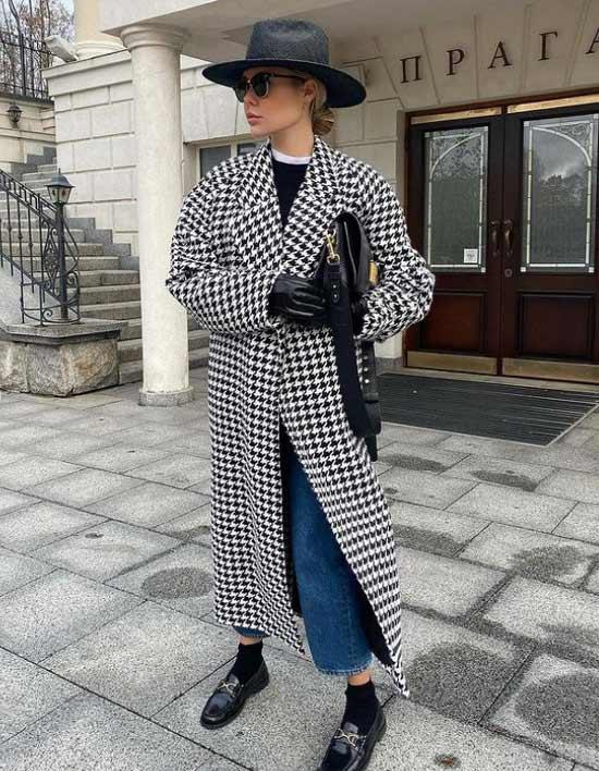 Plaid coat trend