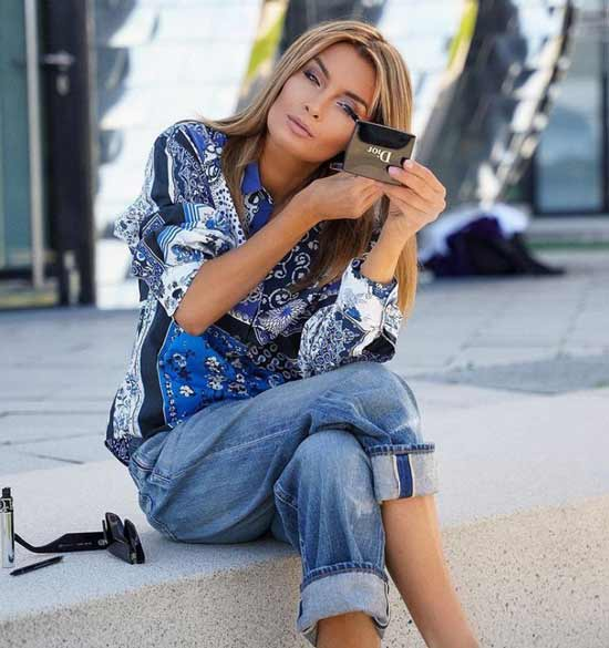 Fashionable spring print in clothes