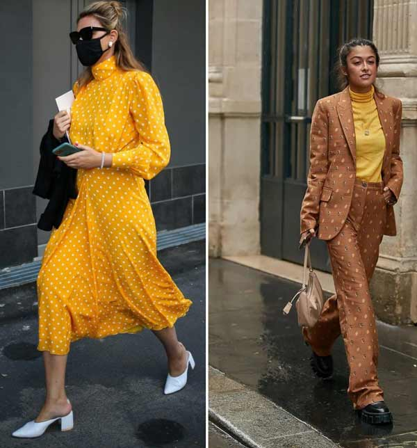 Fashionable yellow color in images