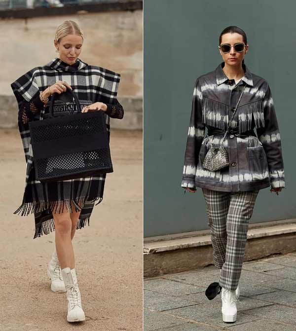 Fashionable cage - a trend in clothes spring-summer 2021