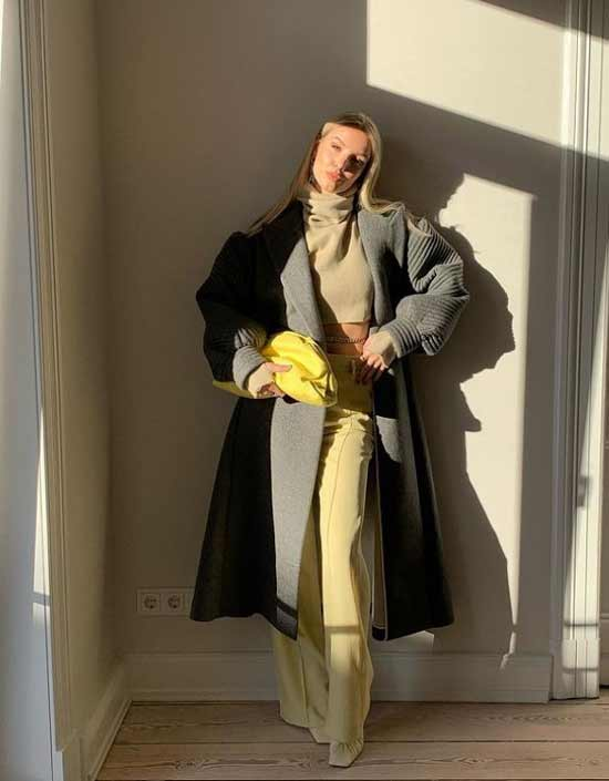 Gray + yellow image in clothes