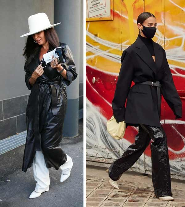 Fashionable looks with leather clothing