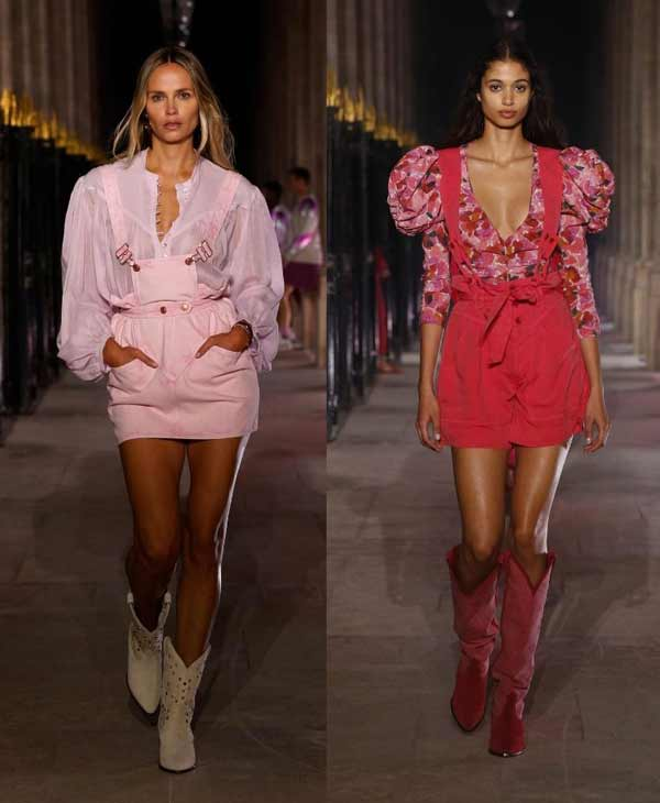 Fashionable look in pink trend 2021