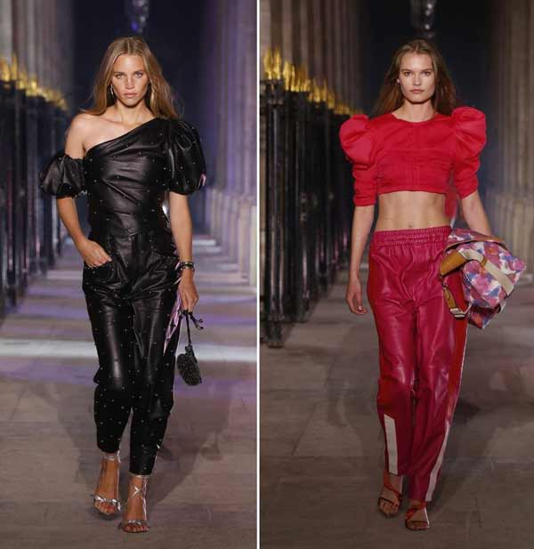 Colored leather is the trend for spring-summer 2021