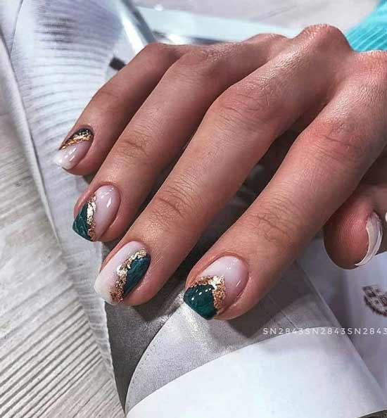 Green manicure texture