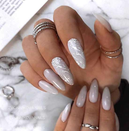 Different hands marble nail design
