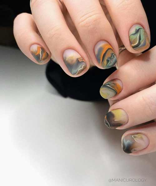 Manicure marble and texture