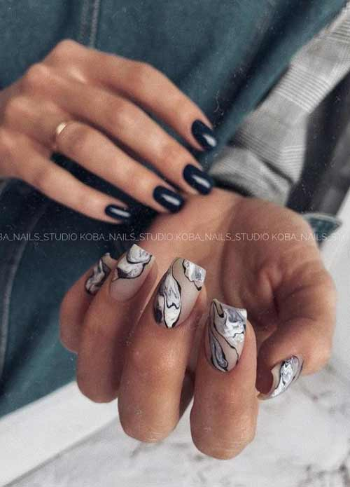 Marble design different hands