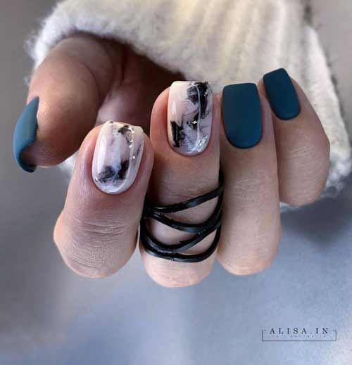 Marble for short nails