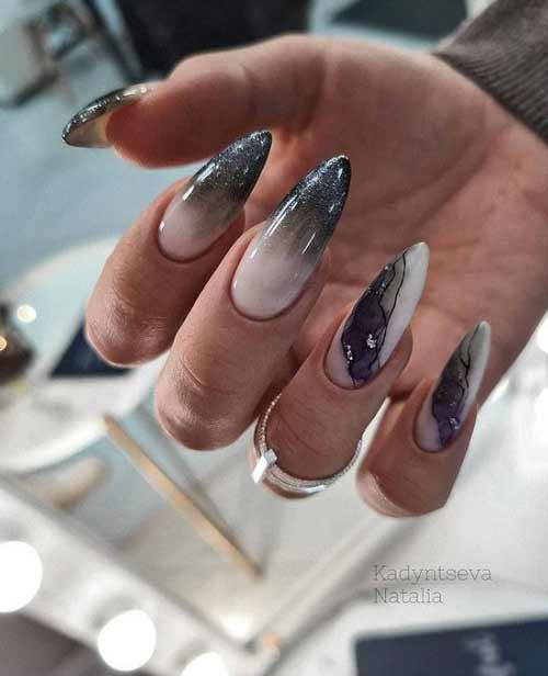 Nails texture - emerald stone