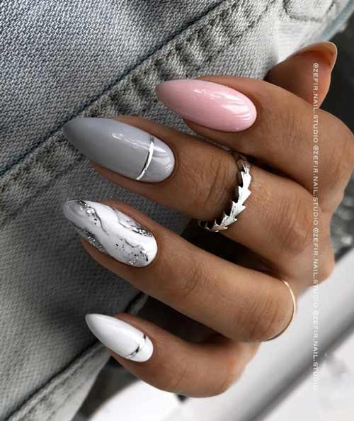 Marble + pink + gray