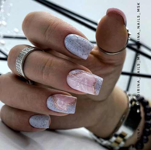 Beautiful manicure marble design