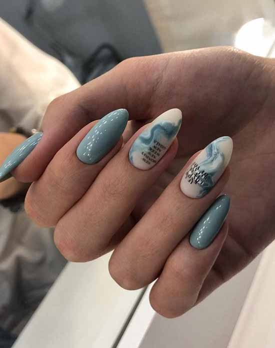 White marble manicure