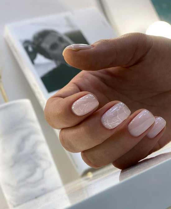 Delicate marble manicure