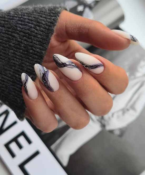 Black and pink marble nail designs