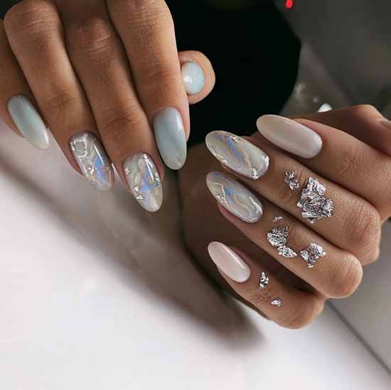 Marble manicure 2021: the most beautiful design, photo