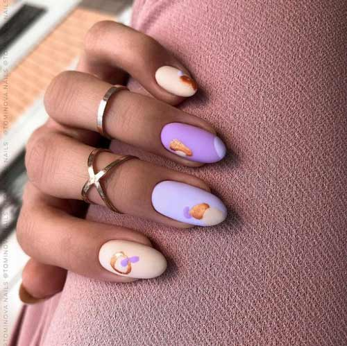 Fashionable manicure spring trends photo