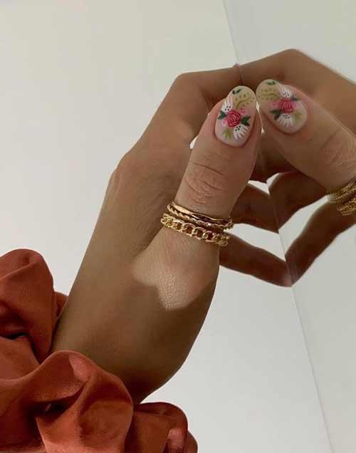 Fashionable naked manicure spring