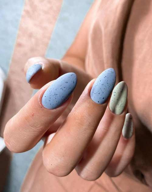 Fashionable pastel manicure spring