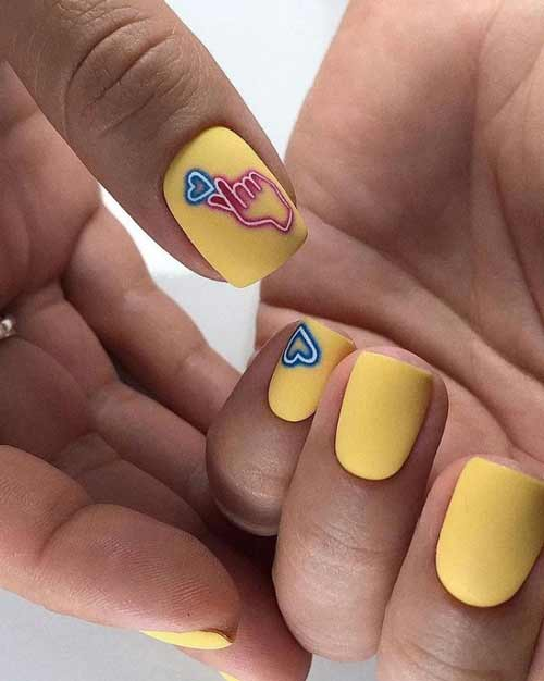 Yellow manicure spring