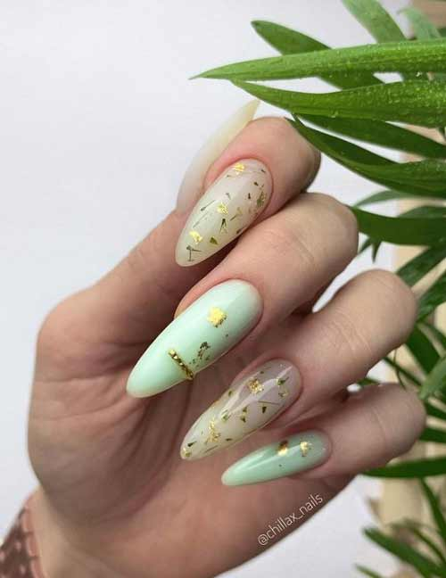 Long nails spring manicure