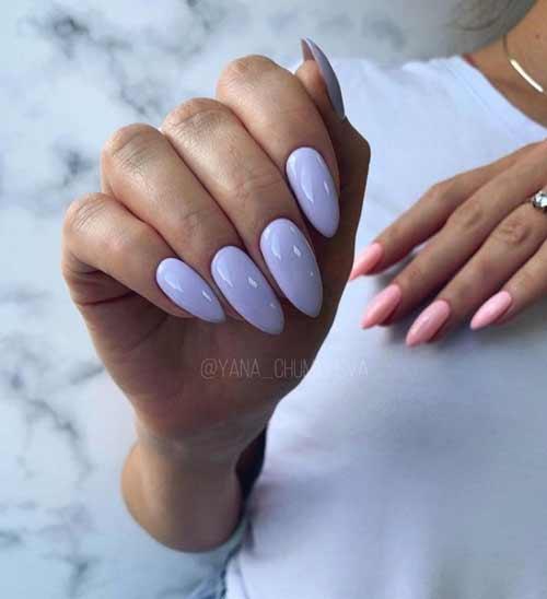 Light purple manicure