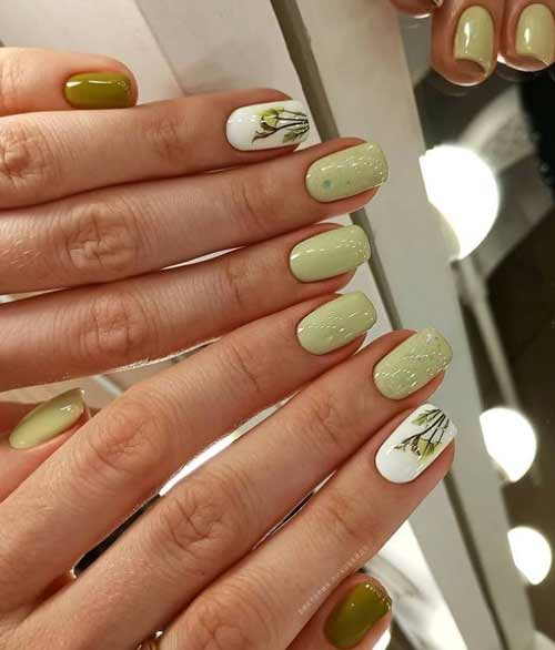 Trendy shades of spring manicure