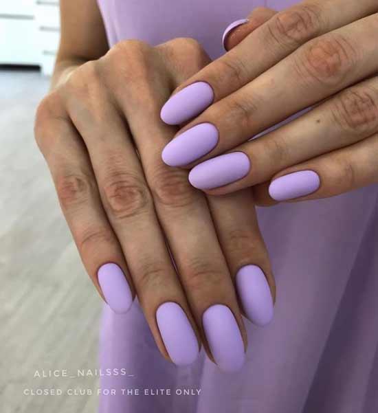 Matte manicure spring