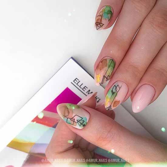 Delicate manicure spring