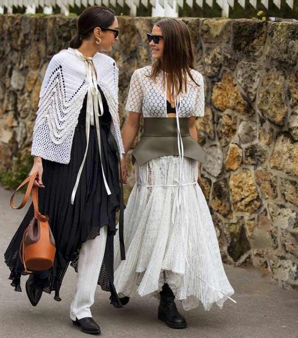 Fashion styling ponytail
