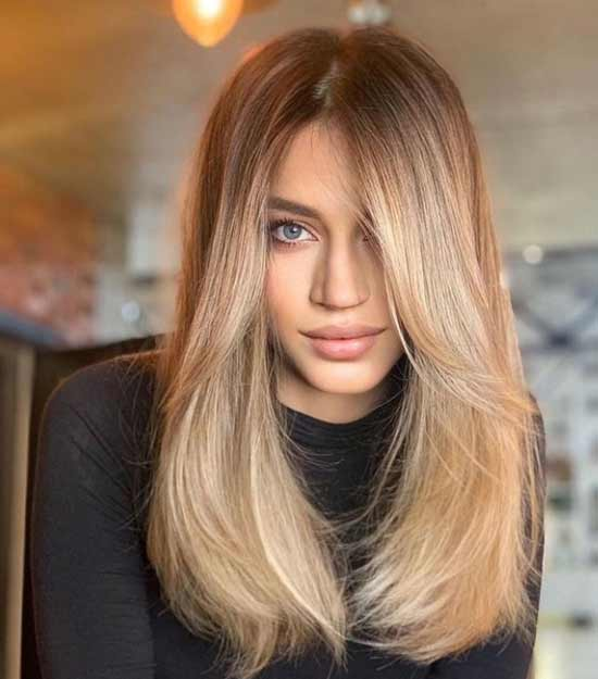 Fashionable long haircut spring-summer