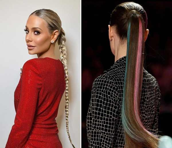 Fashionable low ponytail styling