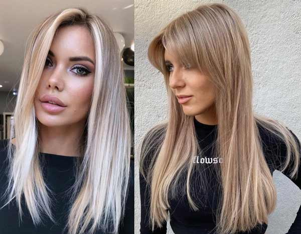Fashionable haircut for long hair