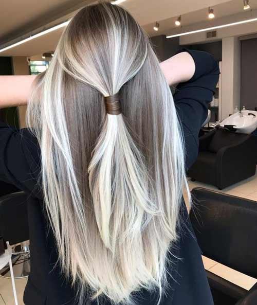 Fashionable haircut and coloring