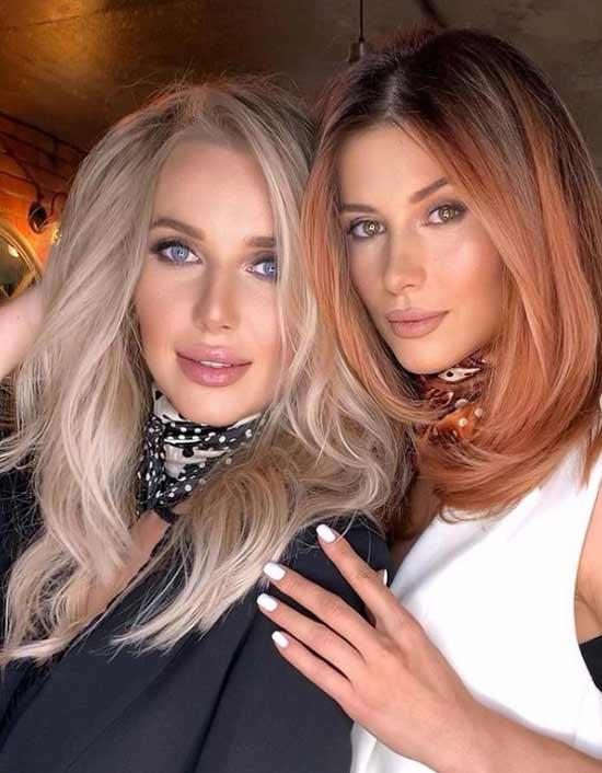Fashionable hair color - natural